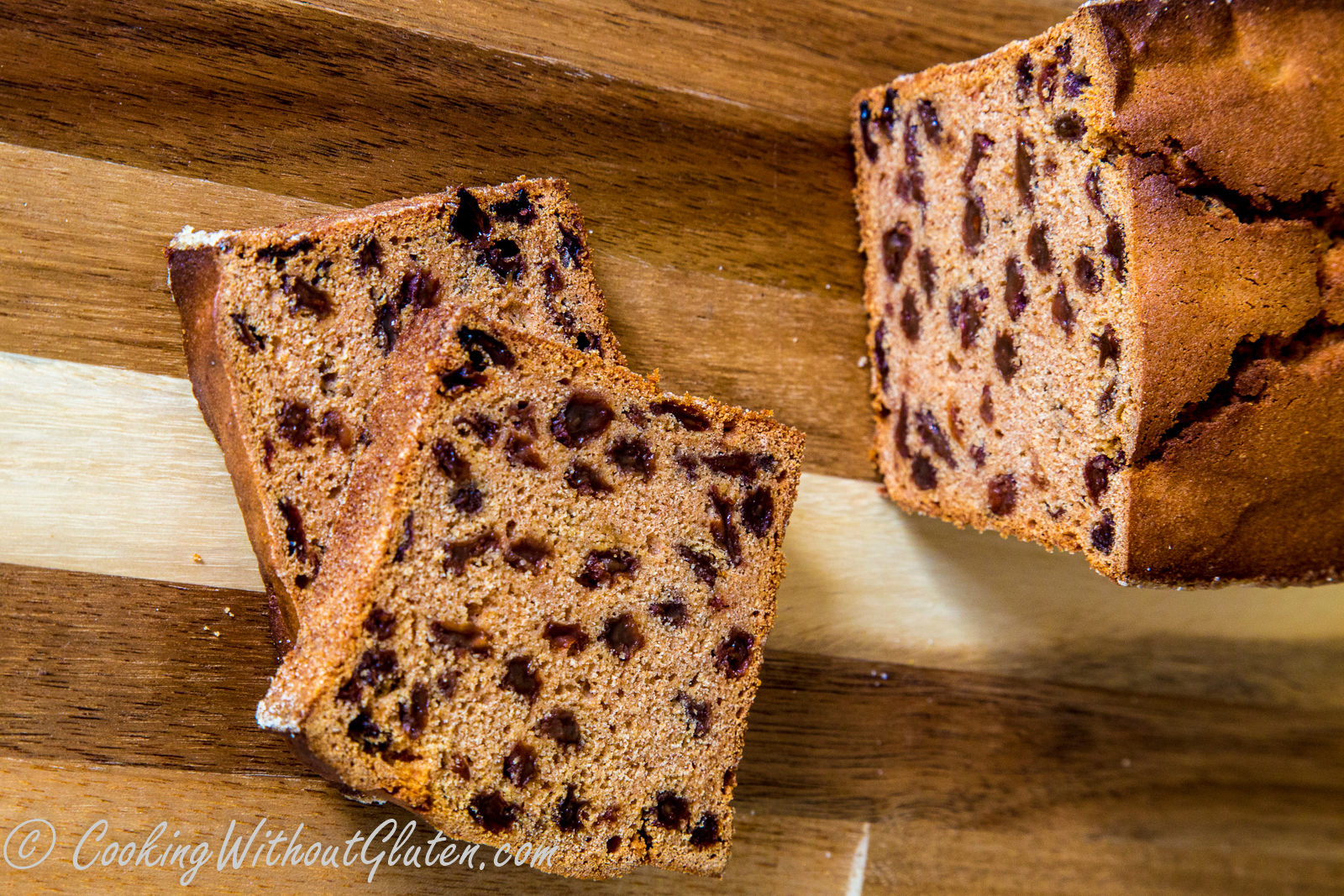 Gluten Free Apple Cinnamon and Raisin Loaf Cake
