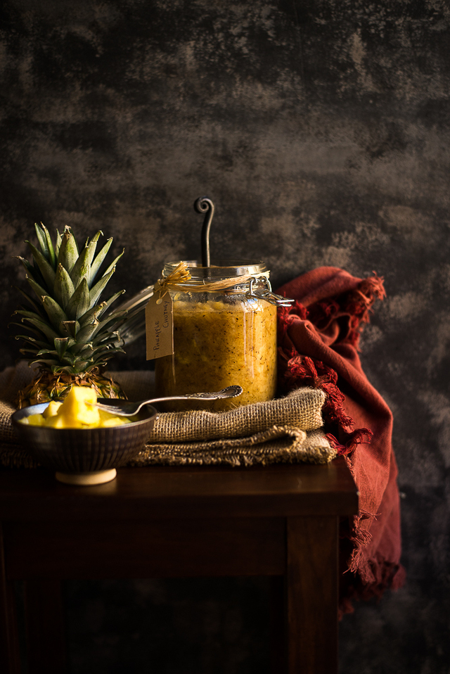 Pineapple Chutney ( Anarosher Chatni )