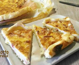 Quiche cotto e mozzarella