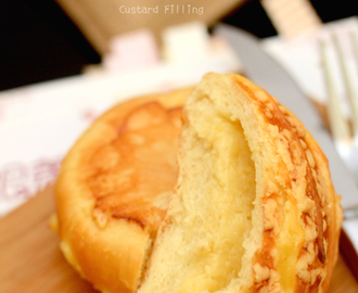 沙菠蘿布丁面包 Crumble Bread with Custard Filling