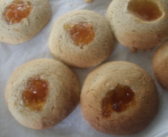 Marmalade Thumbprint Cookies