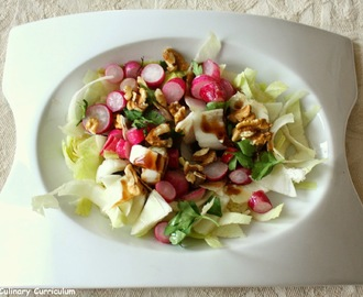Salade de radis tièdes, endives et noix (Radish salad warm, endives and walnuts)