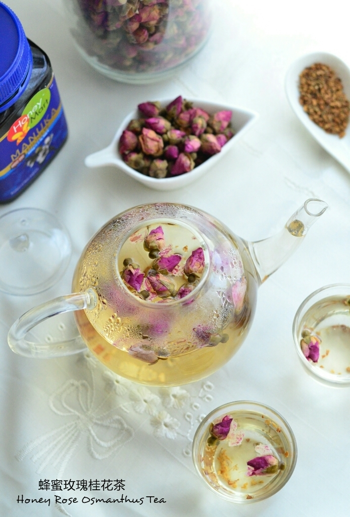 Honey Rose Osmanthus Tea 蜂蜜玫瑰桂花茶
