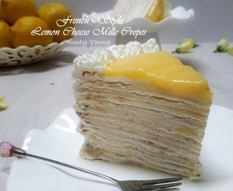 法式柠檬乳酪千层蛋糕 (French - Style Lemon Cheese Mille Crepes)