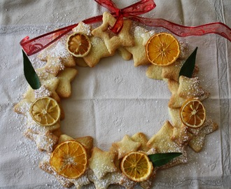 Sablés de Noël en couronne (Shortbread Christmas crown)