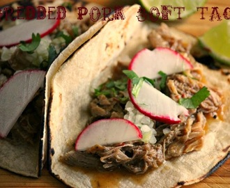 Shredded Pork Soft Tacos #CrockPot