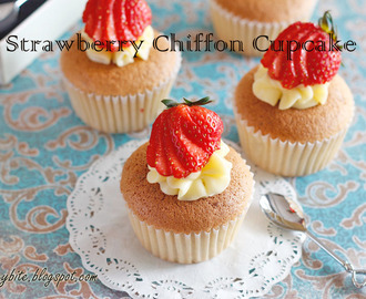 Strawberry Chiffon Cupcake