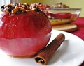 Baked apples stuffed with gluten free granola