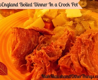 New England Boiled Dinner, In a Crock Pot