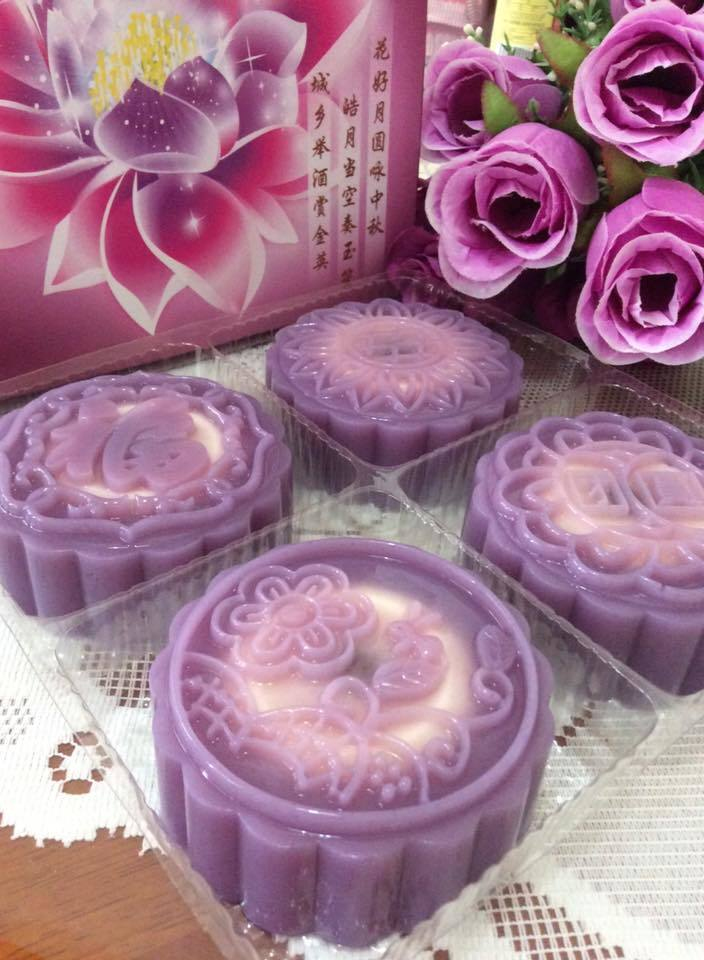~~~ Purple Potatoes Cheesy Jelly Moon Cake ~~~          ~~  紫薯芝士燕菜月饼 ~~