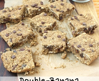 Double-Banana Chocolate Chip Oat Squares (vegan, gluten-free, oil-free)
