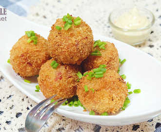 Lutong Bahay: Easy Mashed Potato + Ham and Cheese Potato Balls