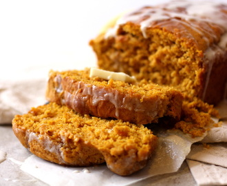 Vanilla Glazed Pumpkin Cider Sweet Bread