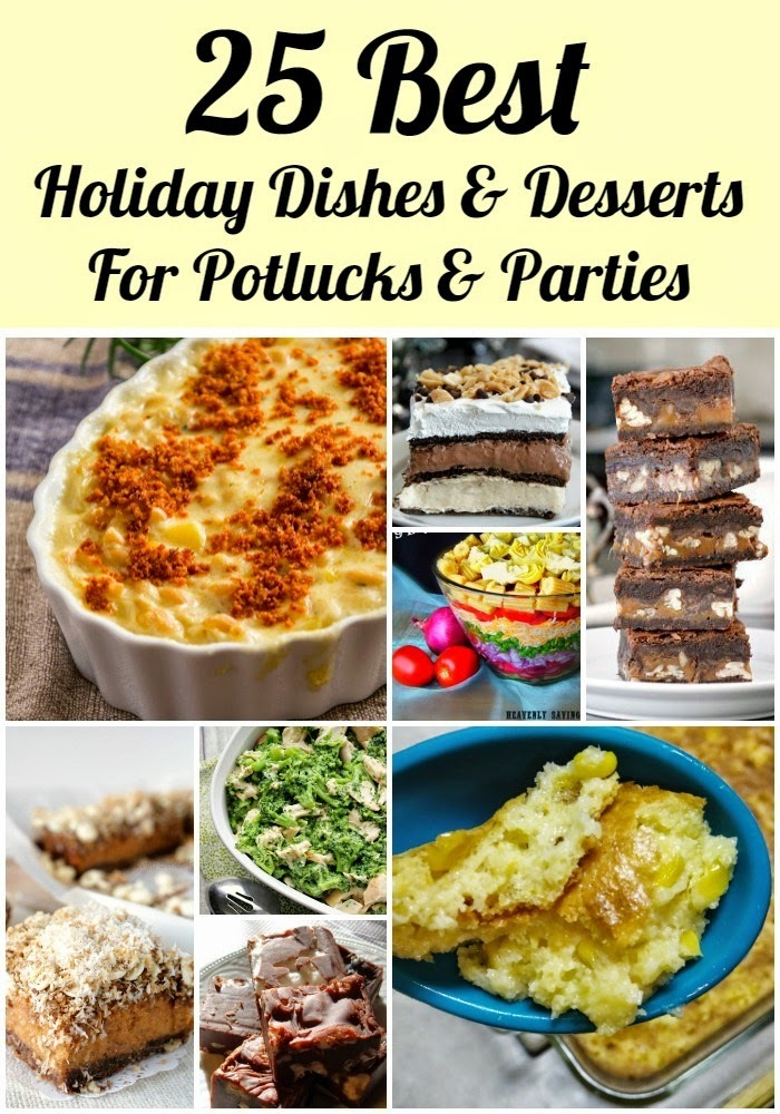 25 of the Best Holiday #Recipe Ideas for Potlucks and Parties