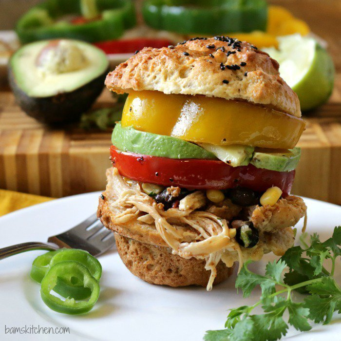 Stove Top Chicken Fajitas Sliders