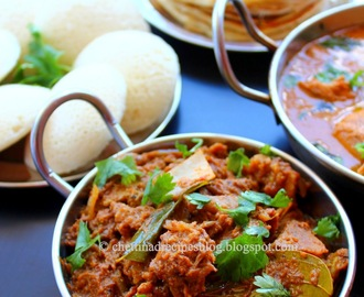 Chettinad Mutton Masala / Attu Kari Masala  – pressure cooker method.