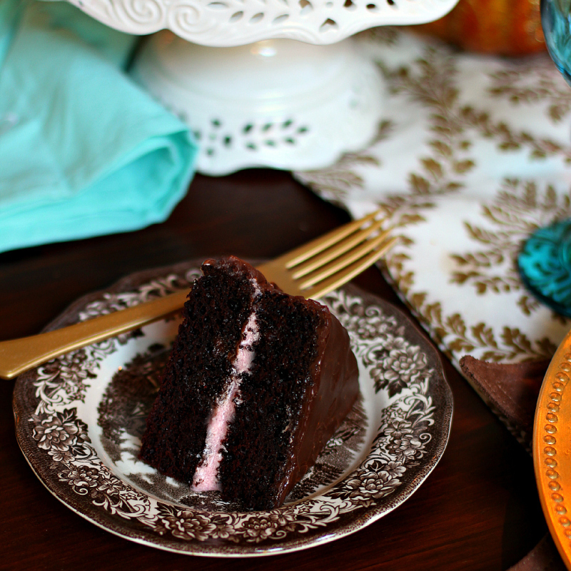 Chocolate Beet Cake with Chocolate Ganache and Cream Cheese Frosting