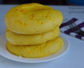 Sheermal/Shirmal - Saffron flavored flat-bread,  We Knead to bake#22