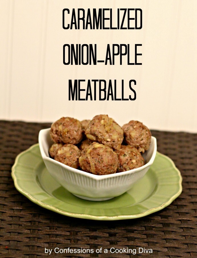 Caramelized Onion-Apple Meatballs #SRC