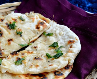 Kulcha made using club soda - Stove top method - Step by step