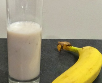 Milkshake banane ultra simple (Banana milkshake)