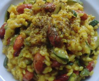 Arroz meloso al curry con almendras