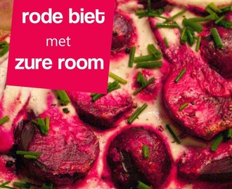 Recept Rode Biet met zure room         |          De Boon in de Tuin