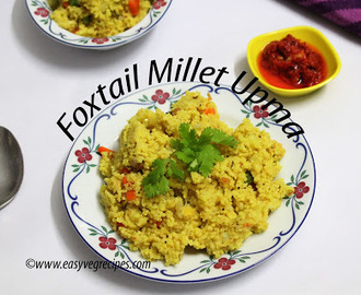 Foxtail Millet Upma Recipe -- How to make Foxtail Millet Upma