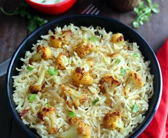 Cauliflower Pulao Recipe | Gobi Pulao