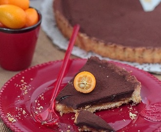 Tarte chocolat et marmelade d'orange