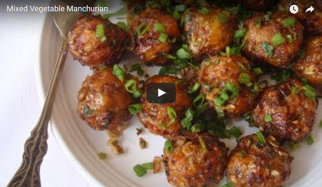 Mixed Vegetable Manchurian Recipe Video