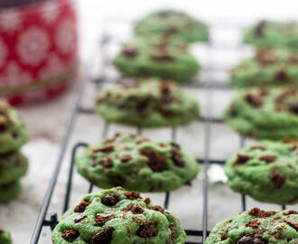 A Sugar Cookie Recipe: Mint Chocolate Chip Cookies with Brownie Brittle