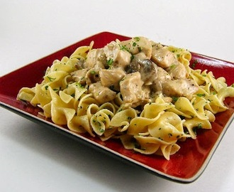 Table for Two -  Grunt (Leftover Pork or Turkey Stroganoff)