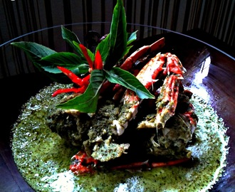 Thai Style Green Curry Crab