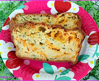 Cake courgette cheddar