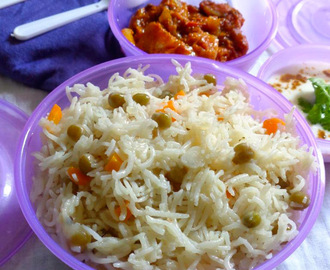 Peas Pulav – Pattani rice