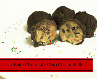 No Bake Chocolate Chip Cookie Balls {12 Days Of Desserts}