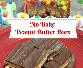 Easy Baking Ideas – No Bake Peanut Butter Bars