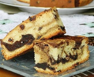 Chocolate Chip Sour Cream Marble Cake