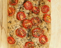 100% Whole Grain Tomato Basil Focaccia. Vegan Recipe