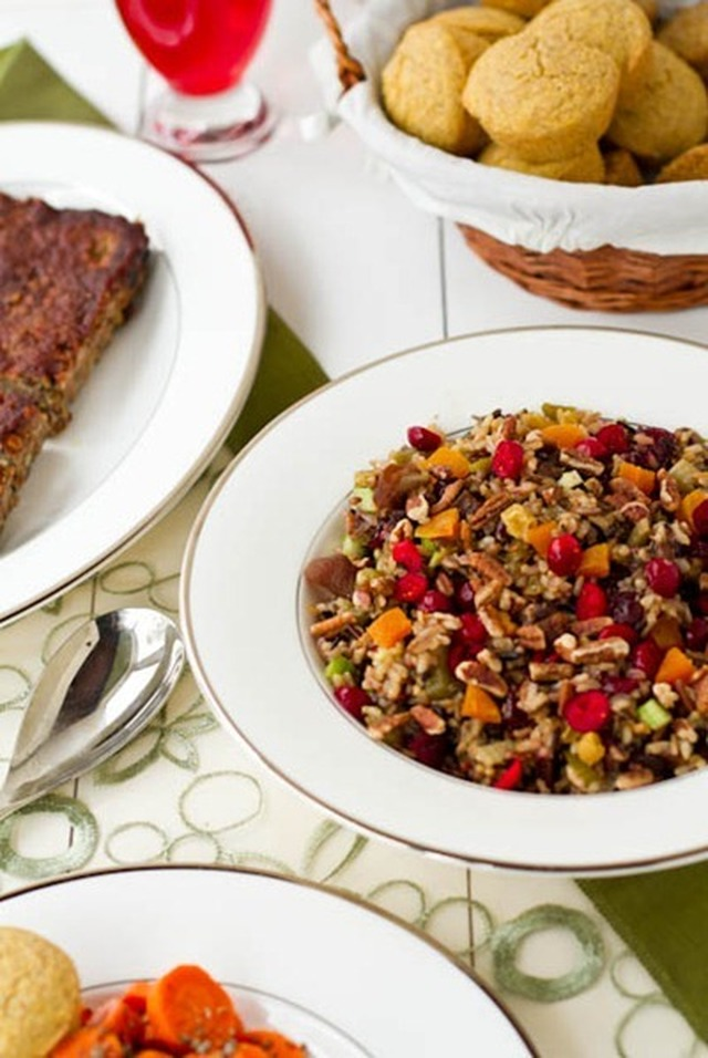 Cranberry, Apricot and Pecan Wild Rice Pilaf
