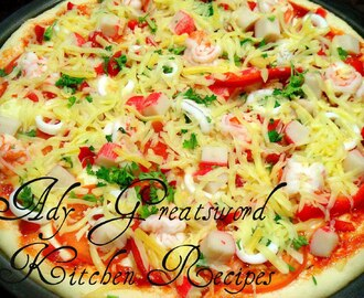 Seafood Pizza/Homemade Pizza # 4