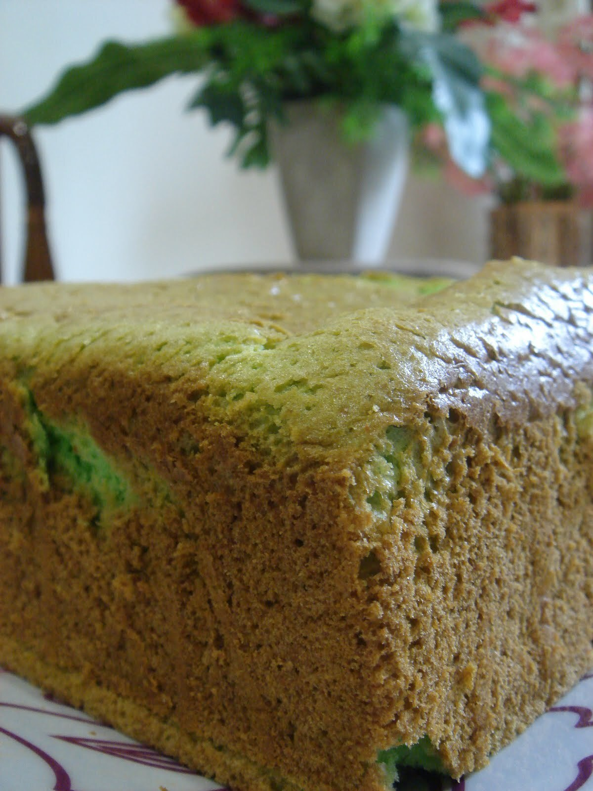 Cream Cheese Pandan Chiffon Cake