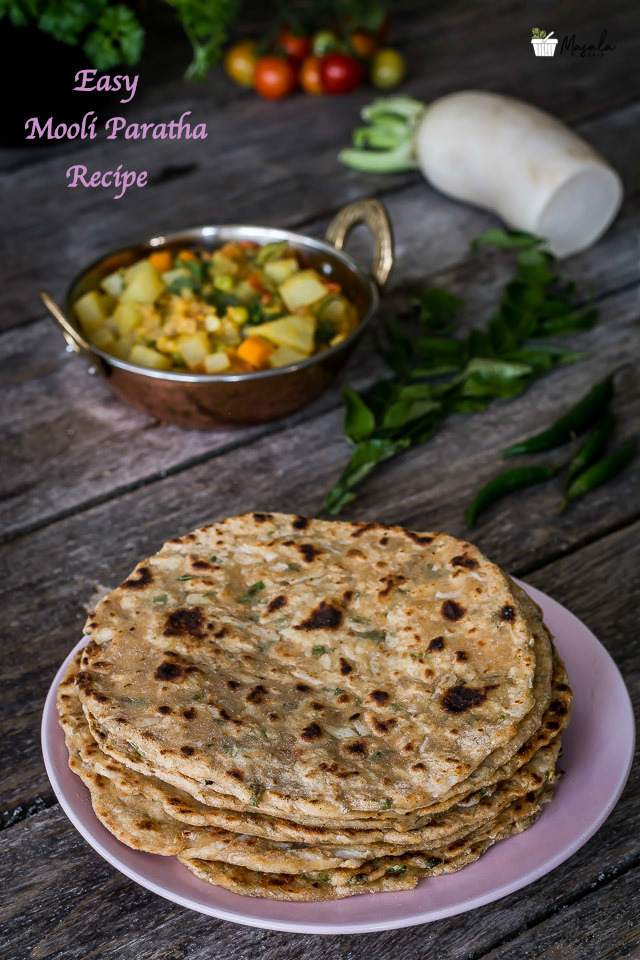 Easy Mooli Paratha Recipe | Mooli Ki Roti Recipe | Radish Chapati | How to make Mooli Paratha at Home | Muli Paratha | Mooli Ka Paratha Video