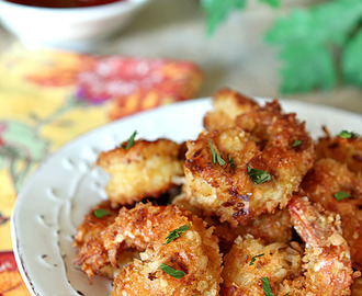 Crispy Coconut Shrimp with Curry