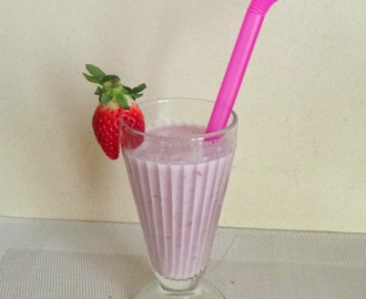 Milkshake fraises bananes (Strawberries bananas Milkshake)