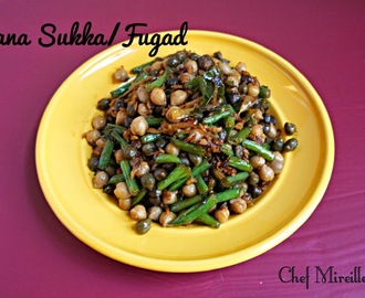 Chana Fugad/  Chickpea Saute with Coconut & Haricot Verts (French Beans)