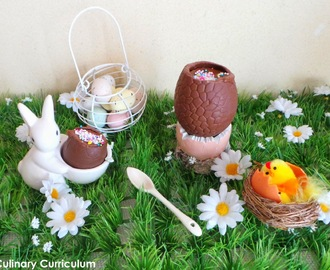 Oeuf de Pâques à la mousse au chocolat (recette facile) (Easter egg with chocolate mousse (easy recipe))