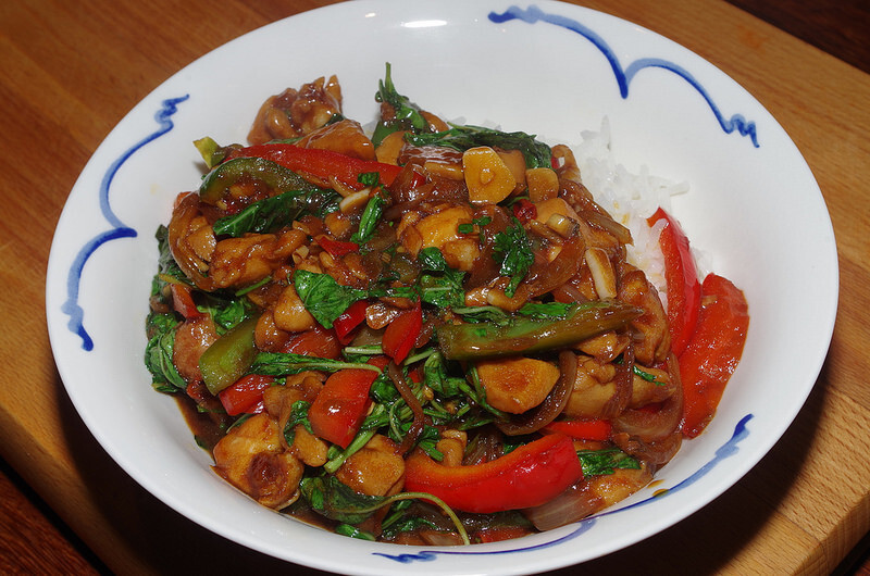 Thai-style chicken with holy basil