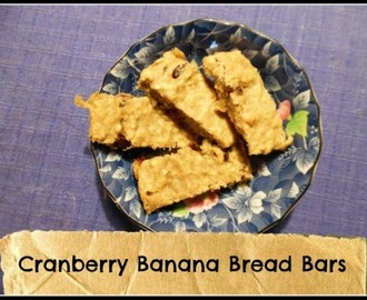 Cranberry Banana Bread Bars (Recipe)